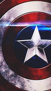 Captain America Logo Mobile HD Wallpaper
