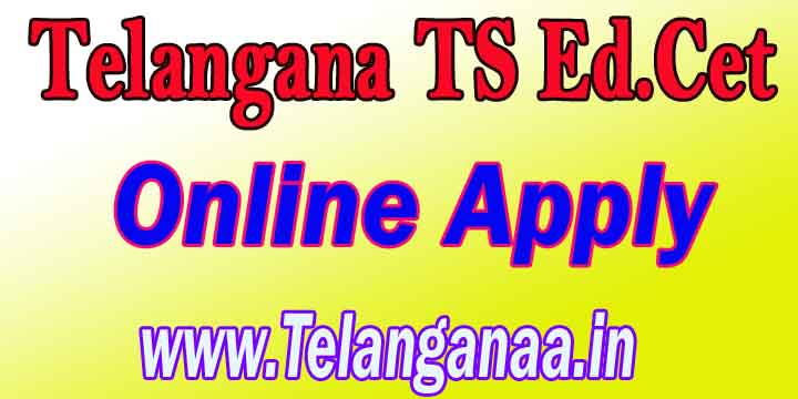 Telangana TS Ed.Cet Online Apply TSEd.Cet Online Apply