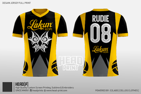 Lakun Volley Ball Jersey Full Print Custom - Head Print