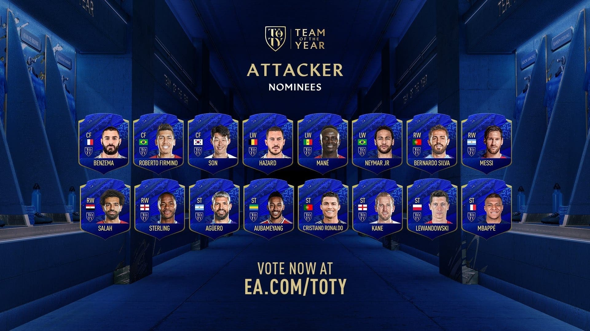The cards for the TOTY nominees were barely a point better than the average and overall stats.