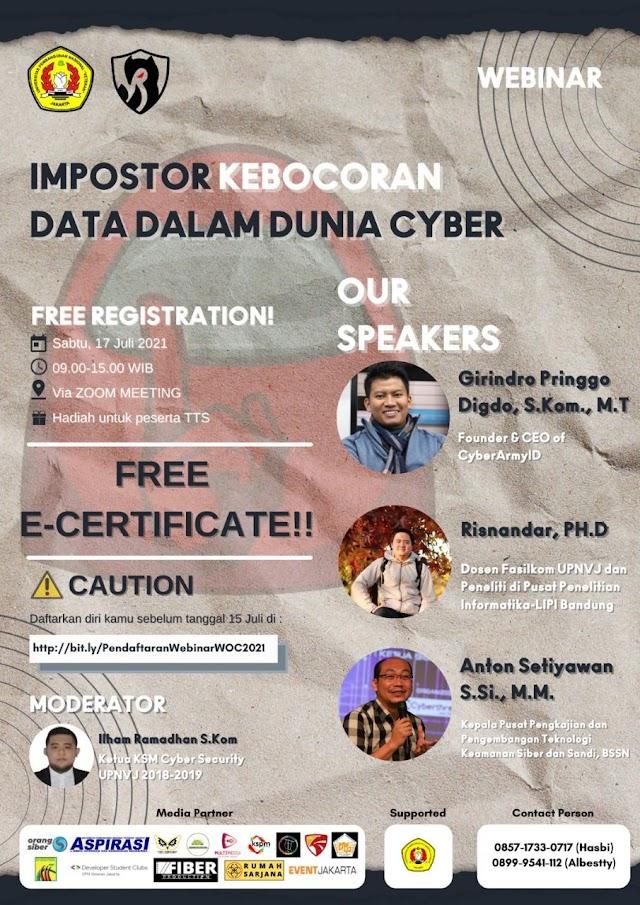 Webinar: Imposter Kebocoran Data dalam Dunia Cyber
