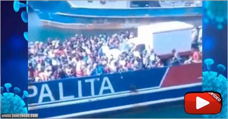 El Virus hizo una fiesta en una embarcación que llegó a Cumaná