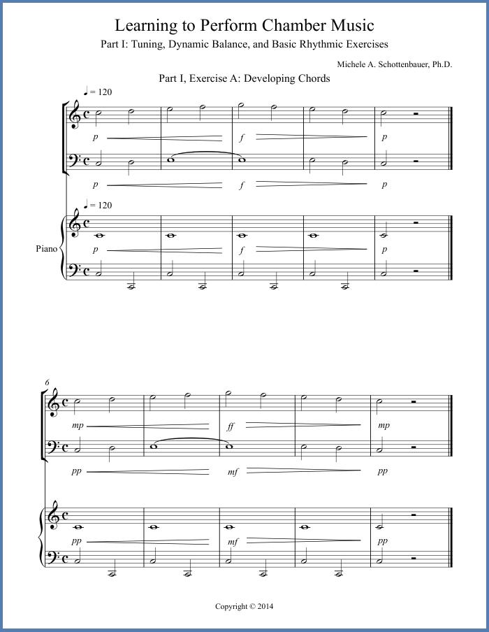 Piano piano trio sheet music : Chamber Music Education Tips