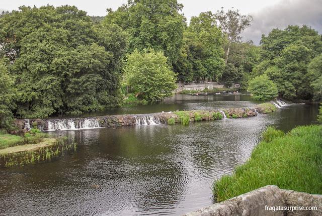 Rio Bermaña, em Caldas de Reis, Galícia, no Caminho de Santiago