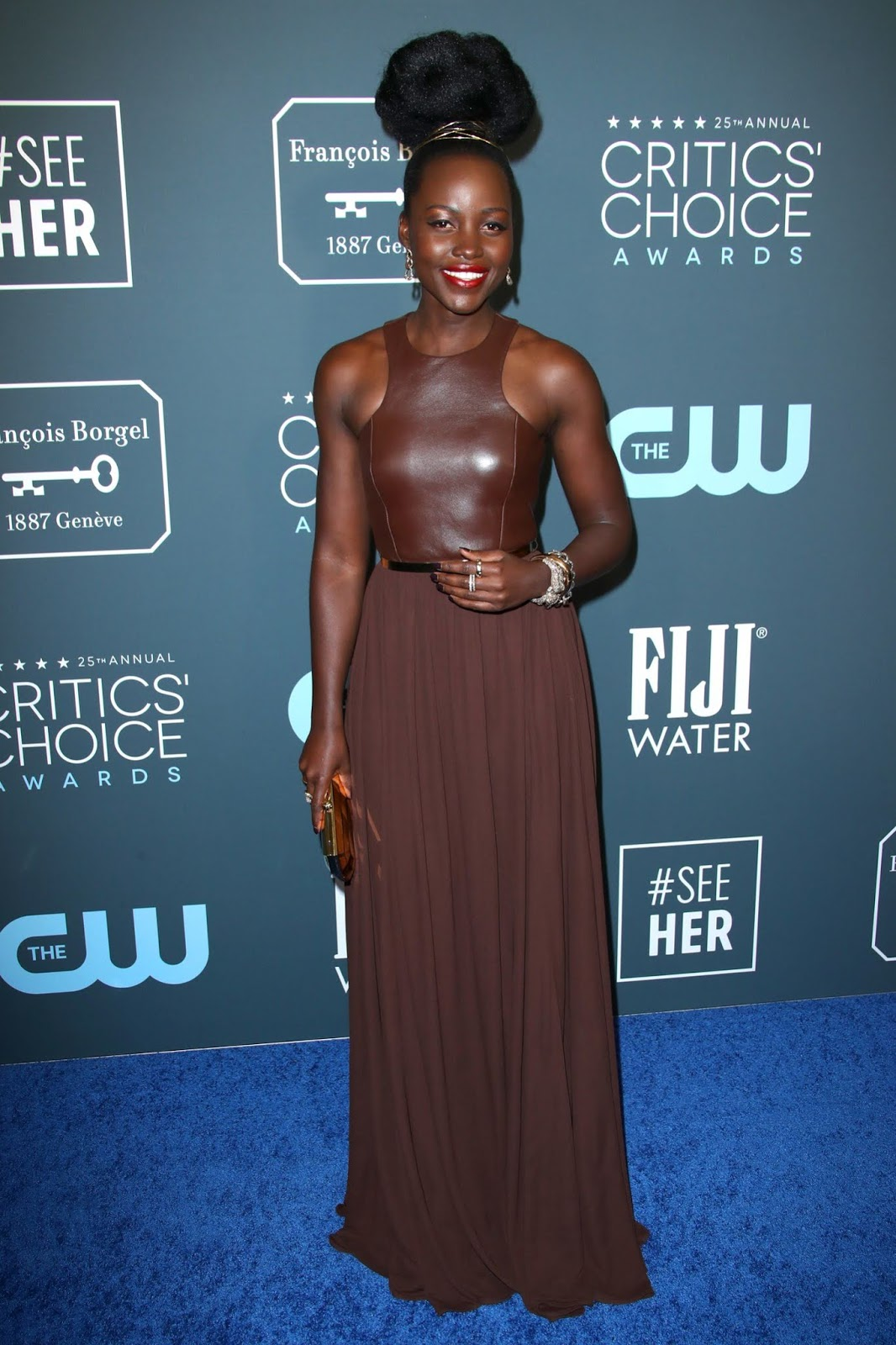 Lupita Nyong'o's Critics' Choice Awards Look Is Her Most Stripped-Back Yet – With A Vintage Twist