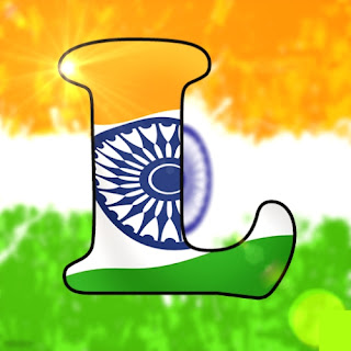 Indian Flag L Name dp, Indian Flag L name pic for whatsapp dp