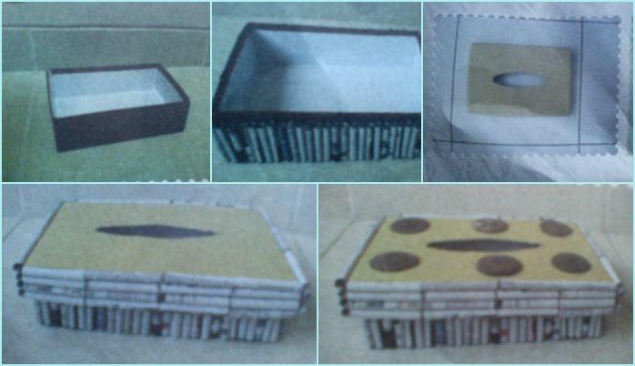 Membuat tempat tissu unik dari kertas koran bekas