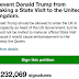 Lol. Brits say Donald Trump is an embarrassment. 1.2million sign to stop him from coming to the UK