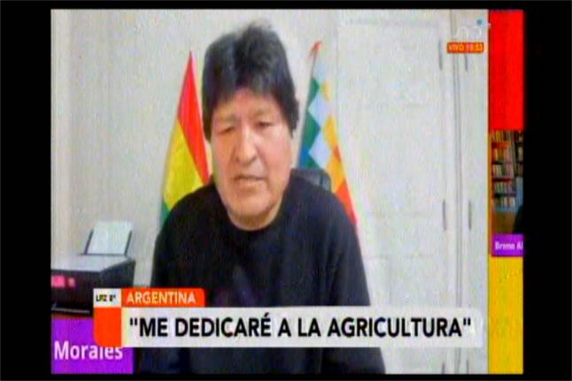 Evo asegura que no es ningún maleante ni delincuente y que volverá y se dedicará a la agricultura
