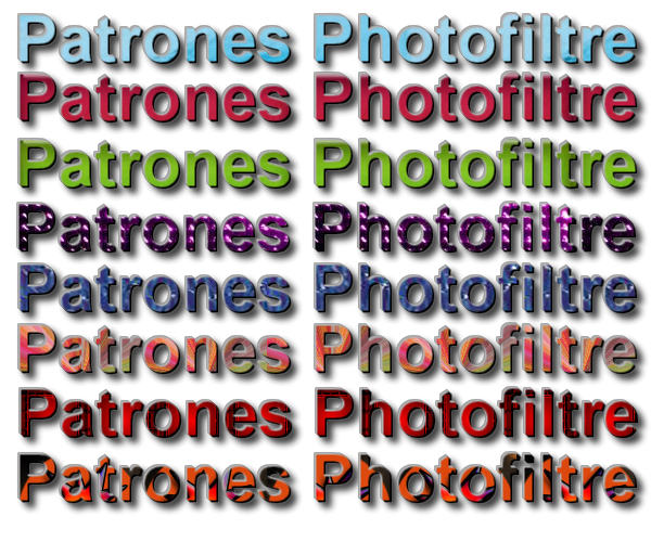 Patrones exclusivos para PhotoFiltre Studio X