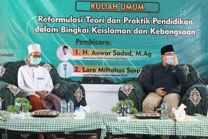 Tausiyah Akademik Wakil Ketua DPRD Jawa Timur dalam Pelantikan BEM STIT Togo Ambarsari Bondowoso