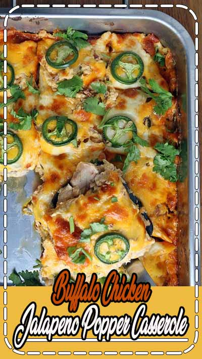 This makes 6 servings of Buffalo Chicken Jalapeno Popper Casserole. Each serving is 782 Calories, 66.97g Fats, 4.59g Net Carbs, and 38.61g Protein.