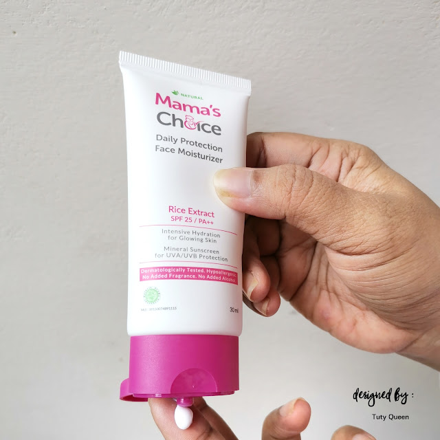 Tekstur Mama's Choice Daily Protection Face Moisturizer