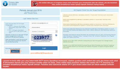 Login Info GTK Menggunakan Metode Account PTK