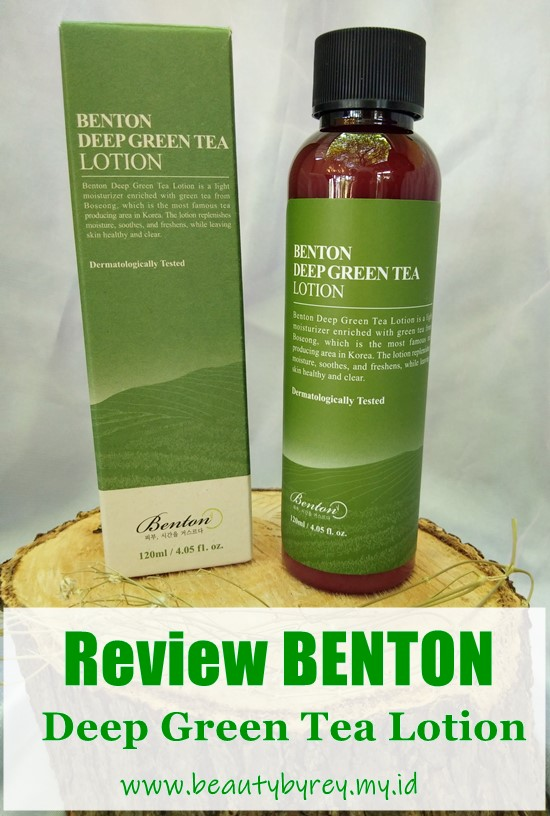 Review Benton Deep Green Tea Lotion