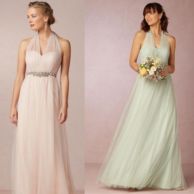Vestido Dama de Honra - Modelos iguais com cores diferentes