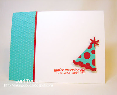 You're Never Too Old to Wear a Party Hat-designed by Lori Tecler-Inking Aloud-stamps and dies from Lil' Inker Designs