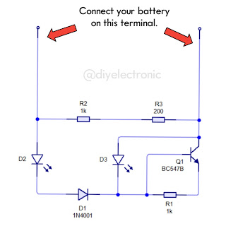 3.7v Lithium and Li-ion Battery Full & Low Level Indicator