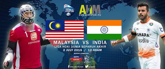 live Malaysia Vs India Liga Hoki Dunia 2015