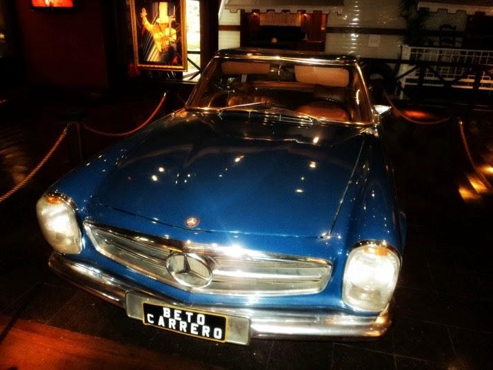 Carro de Beto Carrero exposto no Memorial, no Beto Carrero World