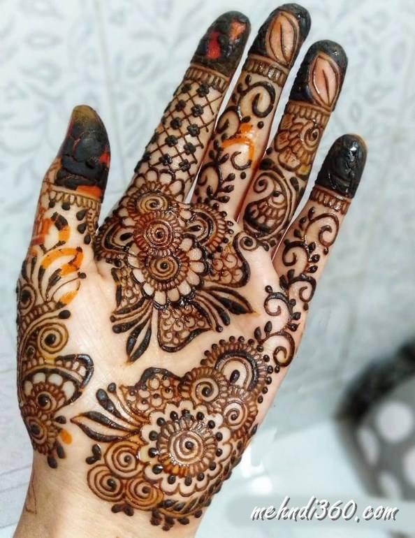 Popular Front Hand Mehndi Design