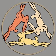 easter: three hares