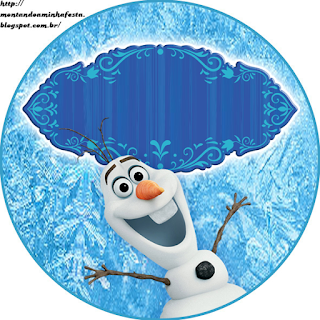 Olaf Smiling: Free Printable Cupcake Wrappers and Toppers.