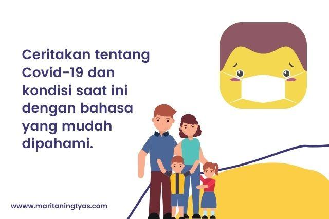 menjelaskan tentang covid dengan bahasa yang mudah dipahami anak