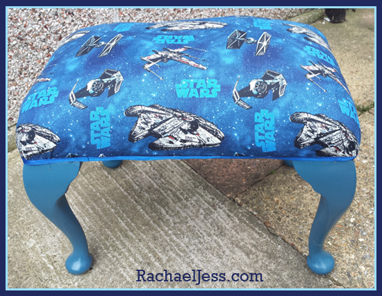 From tatty to Star Wars - how I upcycled this old stool into a star wars feature