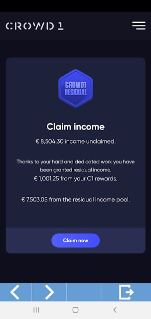 Crowd1 has delivered their promised by paying the second time residual income payment and the first Quarterly dividends Payment to Affiliate. Crowd1 remain the solid business opportunity 2020