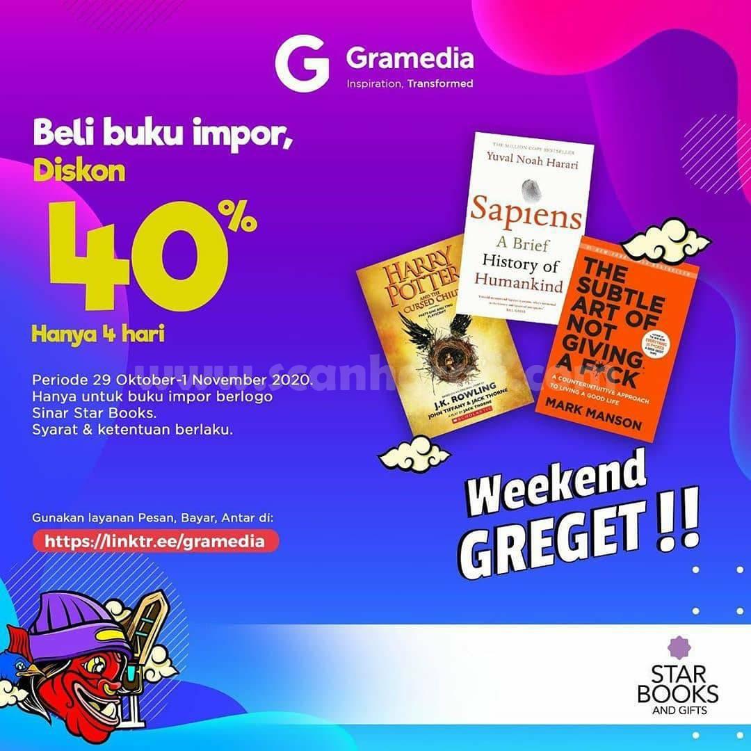 Gramedia Promo Weekend Greget! Beli Buku Impor Diskon 40%
