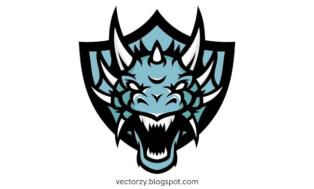 Vektor Kepala Naga / Dragon Head Vector AI , EPS & CDR CorelDraw