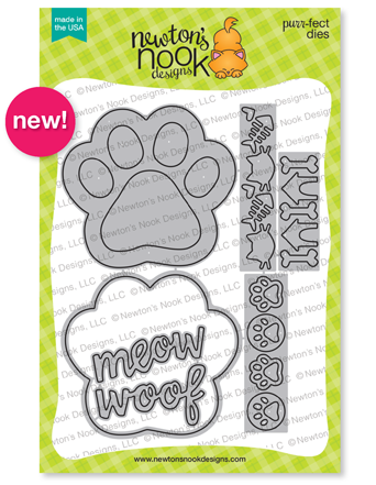Pawprint Shaker Die Set Stamp Set by Newton's Nook Designs #newtonsnook