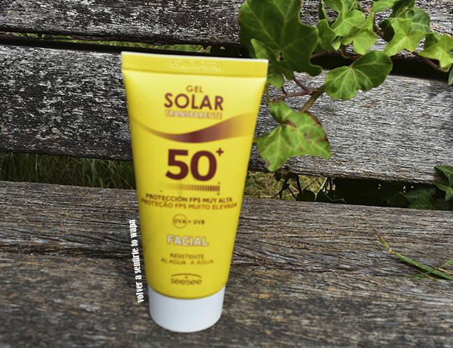 Protección FPS muy alta 50+ Facial - Gel Solar Transparente de Mercadona