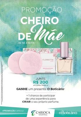 Clientes vão ganhar sabonetes O Boticário e perfumes no Dia das Mães do Carioca Shopping