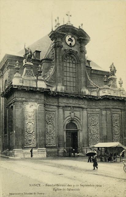 NANCY (54) - Cartes postales des bombardements des 9-10 septembre 1914