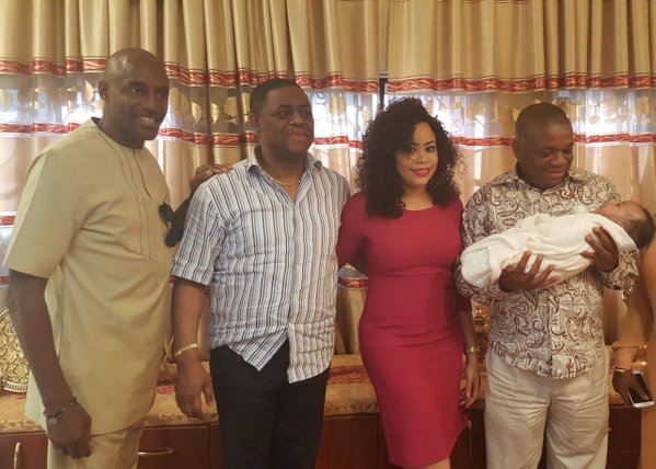 Femi-Fani-Kayode-fiancee -Orji-Kalu-John-Fashanu-at-their-Abuja-home