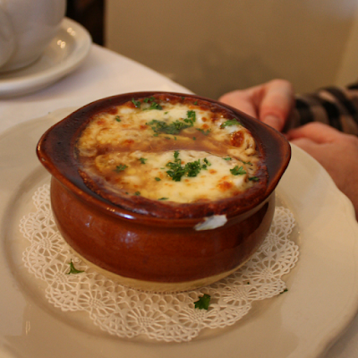 Decadent French and onion soup at Reynold's Tavern in Annapolis