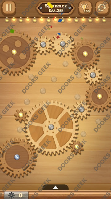 Fix it: Gear Puzzle [Spanner] Level 36 Solution, Cheats, Walkthrough for Android, iPhone, iPad and iPod