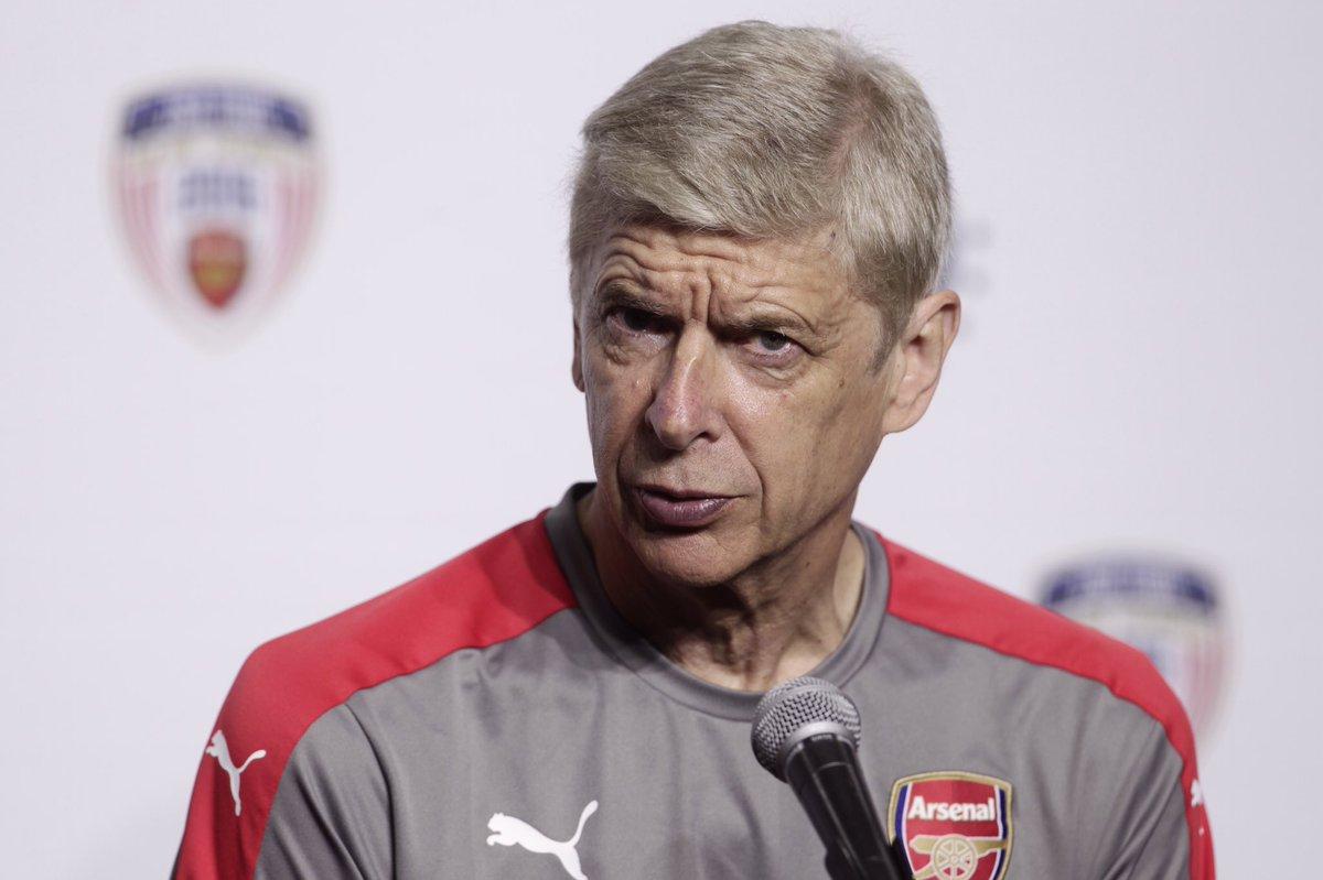 Arsene Wenger en conferencia previo al Arsenal vs Chivas.