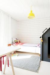 modern living ferm children child decor wall rooms paper kid walls bedroom bedrooms toddler yellow papel unfold space pintado scandinavian