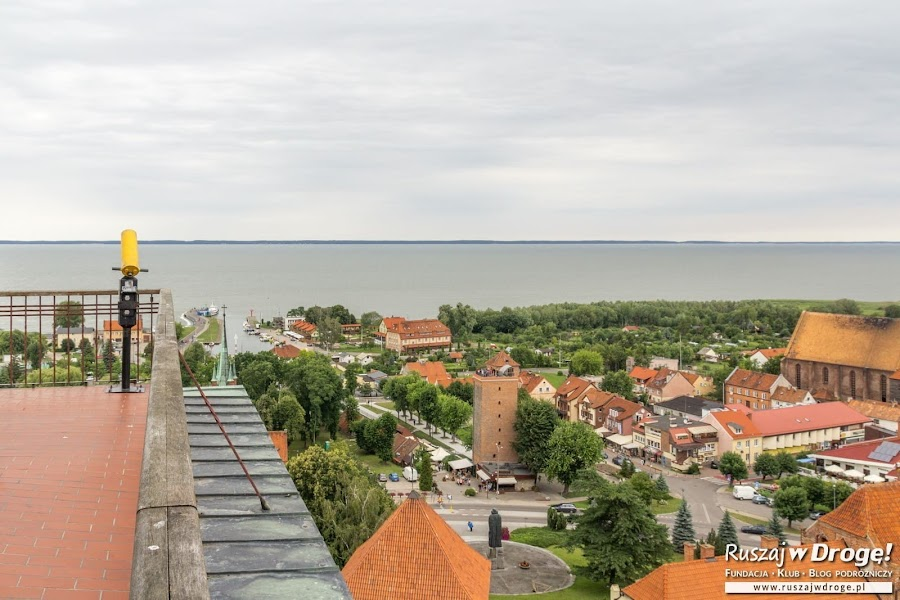 Widok na port z Wieży Radziejowskiego we Fromborku