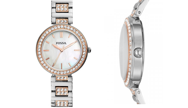 Harga Fossil Karli Three-Hand Two-Tone Stainless Steel Watch