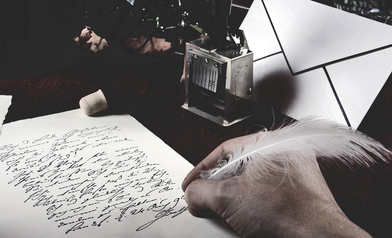 Escena en blanco y negro con plumilla y tinta china