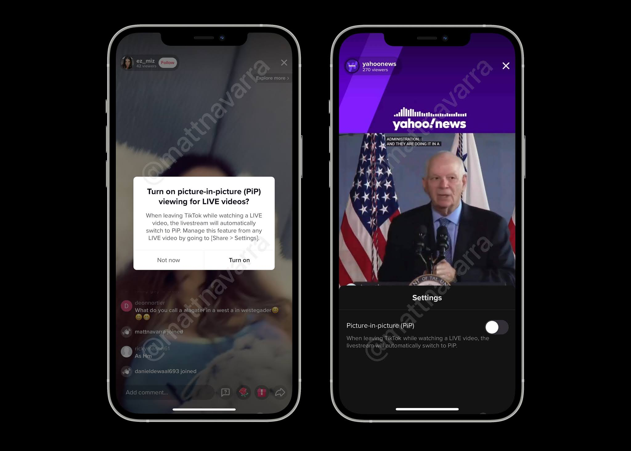 Tiktok Is Rolling Out The Picture In Picture Mode For Live Stream Videos Digital Information World