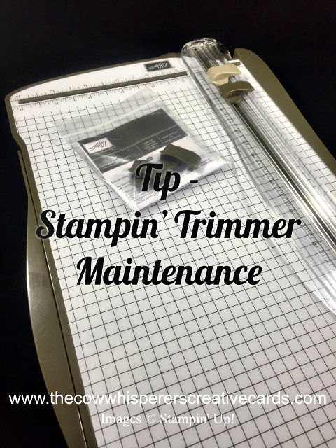 Tip, Stampin Trimmer, Maintenance, Stampin UP