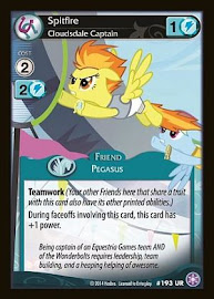 My Little Pony Spitfire, Cloudsdale Captain The Crystal Games CCG Card
