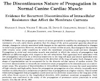 """Spach et al., """"The Discontinuous Nature of Propagation in Normal Canine Cardiac Muscle: Evidence for Recurent Discontinuities of Intracellular Resistance that Affect the Membrane Currents,"""" Circ. Res., 48:39-45, 1981."""