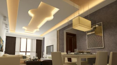 gypsum board ceiling design ideas for open plan apartment