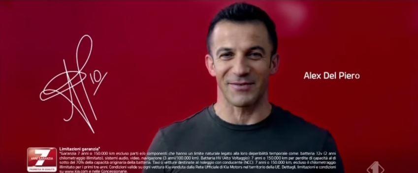 Canzone KIA Pubblicità Stonic , Sportage , Niro con Alex Del Piero , Spot Maggio 2018